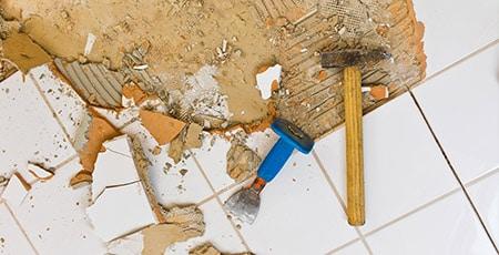 Tegels verwijderen in Beuningen