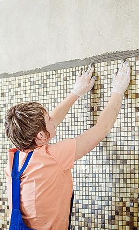 mozaiek tegels plaatsen